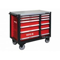 Шкаф сервисный Yato для инструментов на 12 шухляд – стальная столешница (YT-09003)