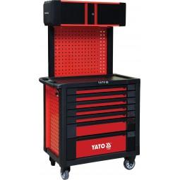 Профессиональный сервисный шкаф Yato для инструментов на 7 шухляд (YT-09008)