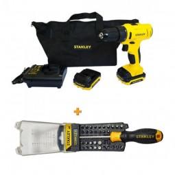 Шуруповёрт импульсный аккумуляторный бесщёточный + отвертка - набор Multibit STANLEY SCI12S2+STHT0-70885