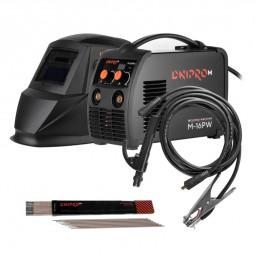 Сварочный аппарат IGBT Dnipro-M M-16PW + Набор сварочных кабелей WS-3216C + Маска сварщика автозатемнение WM-46 + Электроды 3 мм 1 кг